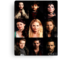 Characters Poster Canvas Print