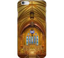 USA. Connecticut. New Haven. Trinity Church on the Green. Interior. iPhone Case/Skin