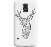 Black Wire Faceted Stag Trophy Head Samsung Galaxy Case/Skin