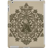 Ask, Seek, Knock Tee iPad Case/Skin