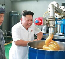 kim jong un visits lube factory by Dolphine
