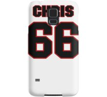 NFL Player Chris Chester sixtysix 66 Samsung Galaxy Case/Skin