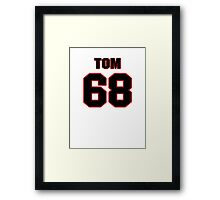 NFL Player Tom Compton sixtyeight 68 Framed Print