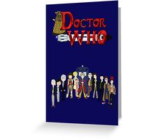 Doctor Who Time Greeting Card