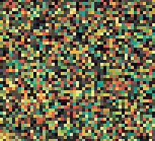 A pixel art style background design by Mike Taylor