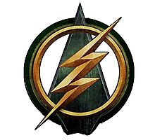 CW Arrow and The Flash Crossover Symbol Shirt Photographic Print