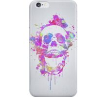 Cool & Trendy Pink Watercolor Skull iPhone Case/Skin
