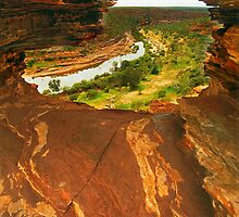 Rock window and Murchison River by Kevin McGennan