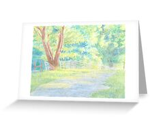 The Shaded Path Greeting Card