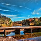 Autumn Low Water Bridge by Rick  Friedle
