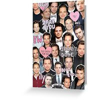 Sebastian Stan BABE Greeting Card
