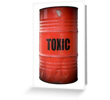 Toxic Waste Barrel Greeting Card