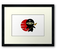 NINJA STAR Framed Print