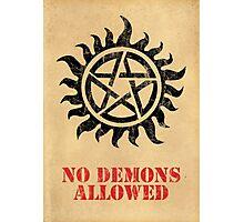 Supernatural No Demons Allowed [BLACK] Photographic Print
