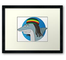 Reggae Shark Framed Print