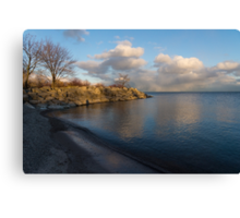 Shimmering Late Afternoon Light - Lakeside Zen Canvas Print