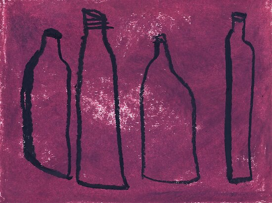 4 empty bottles by Tine  Wiggens