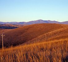 Looking North - Mt Blowhard - Victoria by James Pierce