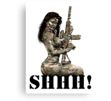 Shhh ! Special Forces Pinup, 7th SFG Canvas Print
