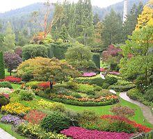 Butchart Gardens, Vancouver, Canada by Geoffrey Grinton