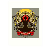 Meditation brings wisdom Art Print