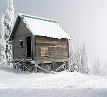 Snow Shack by David Sundstrom