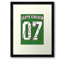 Earth Kingdom Jersey #07 Framed Print