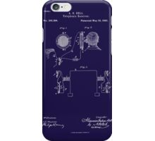 A. G. Bell Telephone Receiver Patent iPhone Case/Skin