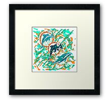 dolphins pop art  Framed Print