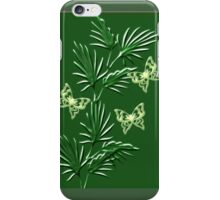 A leaf with butterfly ( Wall Art) design  (3791  Views) iPhone Case/Skin