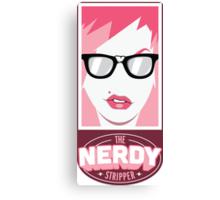 The Nerdy Stripper Logo Canvas Print