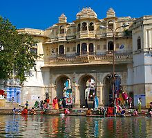Daily life, Lake Pichola by theurbannexus