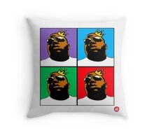 HIP-HOP ICONS: NOTORIOUS B.I.G. (4-COLOR) Throw Pillow