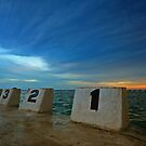 Merewether Ocean Baths at Dusk 3 by Mark Snelson