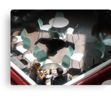 Aqua Chairs Canvas Print