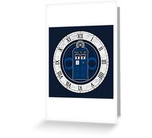 TARDIS and Clock - Doctor Who Greeting Card