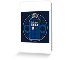 TARDIS and Timelord Seal - Doctor Who Greeting Card