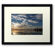 Paddling on the Early Morning Mirror Framed Print