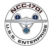 USS Enterprise Logo - Star Trek - NCC-1701 (Alternate Universe) Photographic Print