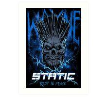 Static Skull Art Print