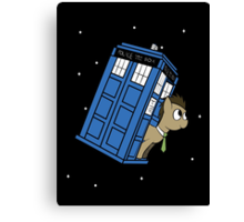 The Doctor and his TARDIS Canvas Print