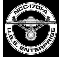 USS Enterprise Logo - Star Trek - NCC-1701-A (movie) Photographic Print