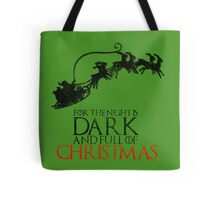 Thrones Christmas: The Night is Dark Tote Bag