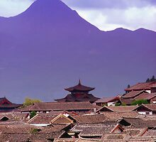 Rooftops of Lijiang 2 by Mark Snelson