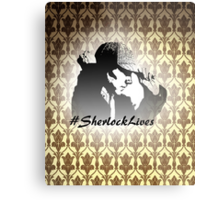 #SherlockLives Metal Print