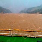 Sudden squall on the Yangtze River by Nancy Richard