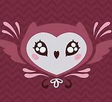 Heartfaced Owl  by amandaflagg