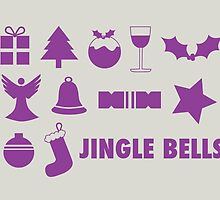 Christmas symbols - jingle bells by rperrydesign