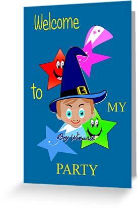 Toon Boy 6c Welcome to My Wizard Party by Dennis Melling