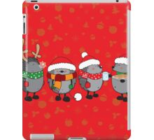 Christmas hedgehogs iPad Case/Skin